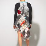 Tree Bustle Dress coal and Heart front